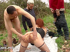 Lfap Elodie - Ginger Gets Orgy Fuck Outdoors