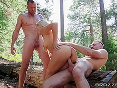 Blonde Stunner Gets Fucked In The Woods - Abella Danger, Scott Nails And Charles Dera