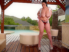 Anastasia Lux And Red Bone - Thick Milf Massive Titties Outdoors Solo 1080p