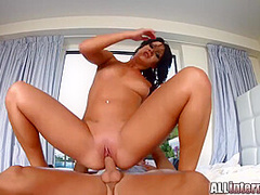 Gets Her Pussy Fucked Until Creampie With Nia Black