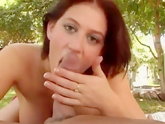 Sexy busty eve laurence blowjob
