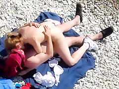 Kamasutra on the beach. Riding
