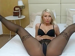 Lovely amber in pantyhose