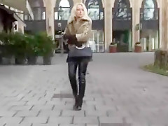 Hottest homemade Latex, Blonde porn video