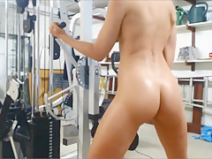 Nude Workout with Vibrator 2 of 5