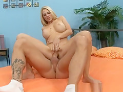 Fabulous pornstar Angela Attison in exotic big tits, blonde adult video