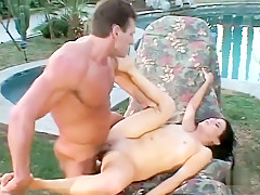Best pornstar Nikki Knox in amazing brunette, outdoor xxx movie