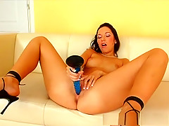 Exotic pornstar in incredible masturbation, solo girl porn scene