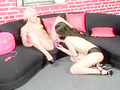 Amazing pornstars Angel Couture and Brandy Lyons in horny brunette, blowjob xxx scene