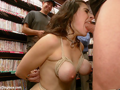 Hot Milf With Big Tits Gets Disgraced And Ass Fucked In Porn Store - PublicDisgrace