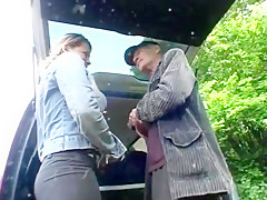 Old guy helps college girl out and gets his reward