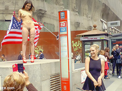 Slutty American Tourist Publicly Disgraces Herself - PublicDisgrace