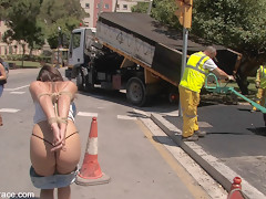 Susana Abril Fully Nude In Central Square - PublicDisgrace