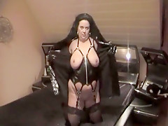 Crazy amateur Mature, Latex porn scene