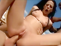 Crazy pornstar in fabulous straight, threesome adult movie