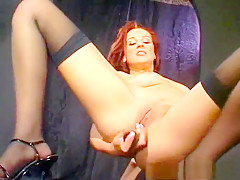 Crazy pornstar Dani Woodward in incredible masturbation, redhead adult video