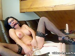 Livecam Self Domination With Huge Toys Mega Squirt - KinkyFrenchies