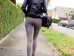 Nice german ass in leggins