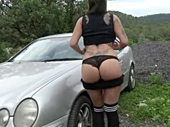 Beautiful french amateur outdoor