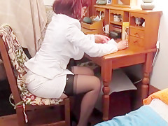 Irresistible tits while working