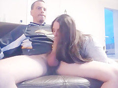 Cute french short blowjob and hairjob  long hair  hair