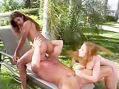 Hottest pornstars Lyla Lei and Allie Ray in incredible anal, outdoor sex movie
