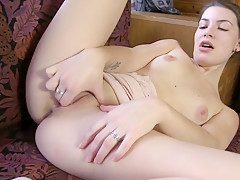 Amazing pornstar in horny masturbation, college porn video