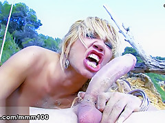 Ginger Hell & Leo Galvez in A Chick Gets Fucked At The Beach  - MMM100
