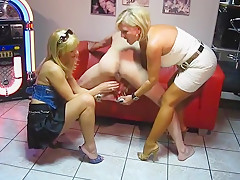 Milked 2 mistress with long red nails