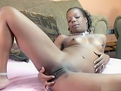 Fabulous pornstar in hottest black and ebony, masturbation sex movie