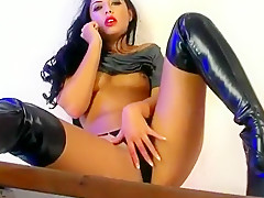 Fabulous pornstar in crazy masturbation, straight sex clip