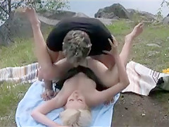 Amazing Blonde, Outdoor xxx video