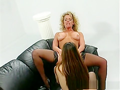 Amazing pornstars Alex Dane and Johnni Black in best brunette, lesbian xxx movie