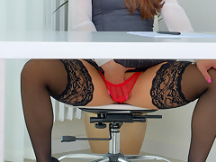 Valentina Ross in Red Panties - Anilos