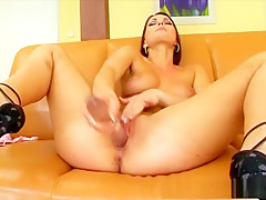 Incredible pornstar in amazing brunette, dildos/toys sex clip