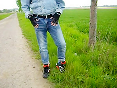 Sagging in the fields dressed in jeans  aussiebum boxers