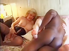 Exotic homemade Threesomes, Interracial porn video