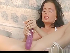 Horny pornstar in crazy masturbation, public porn video