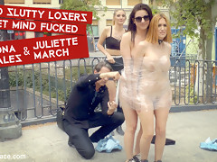 Two Slutty Losers Get Mind Fucked By Mona Wales And Juliette March - PublicDisgrace