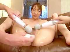 Horny Japanese whore Wakana Kinoshita in Best Threesomes, Handjobs JAV video