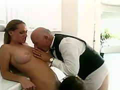 Maid Servicing the Butler and the Mistress of the House