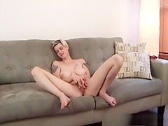 Best pornstar in amazing tattoos, dildos/toys sex clip
