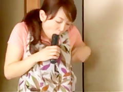 Japanese wife and her lover dildo masturbating