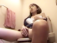 Asian washroom masturbation 3