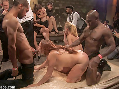 Local Amateur Tries Bdsm For The First Time Ever And Is Rewarded With 4 Hard Black Cocks - PublicDisgrace