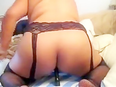 Asian milf toying