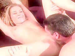 Stunning Blonde April Has Her Rosy Slot Filled With Penis