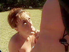 Crazy pornstar Dominique Dewitt in best blowjob, brunette porn video