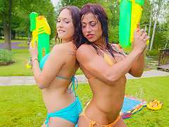 Alicia Paris in Wet and Wild - Teen Water Fight - PegasProductions