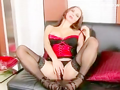 Horny Teen Slut Playing With Her Wet Pussy